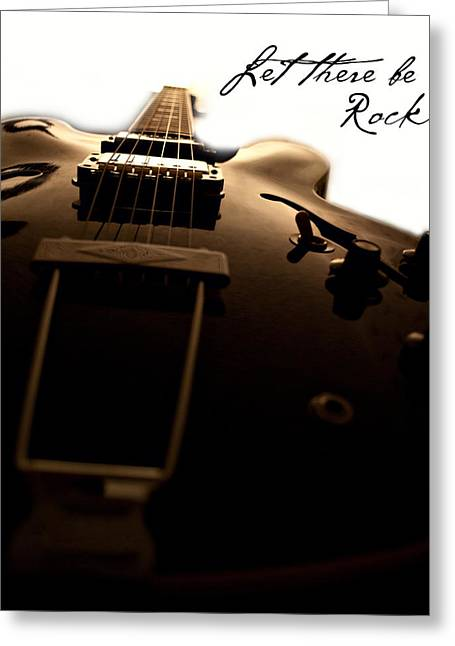 Let There Be Rock Greeting Card by Christopher Gaston