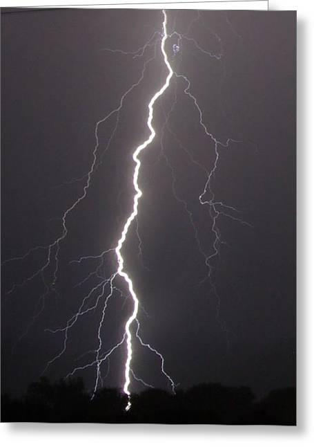 Lightning  Greeting Card by Vonda Barnett
