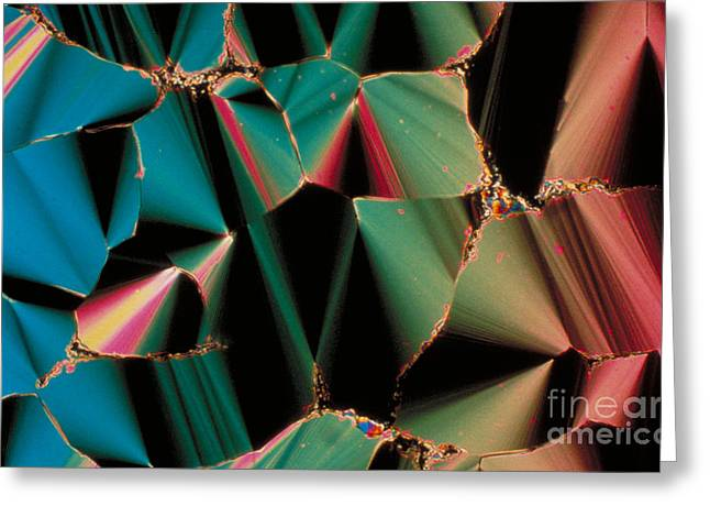 Liquid Crystalline Dna Greeting Card by Michael W. Davidson