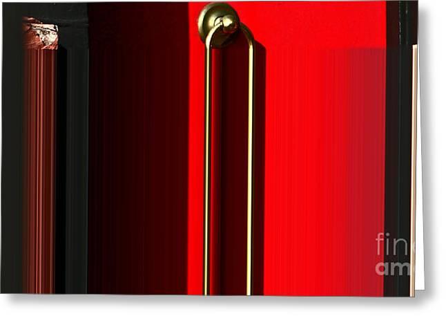 Liquid Door Greeting Card by Ulrich Lange