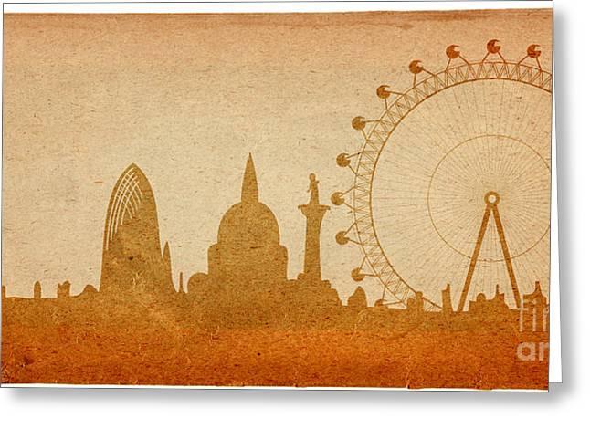 London Skyline Greeting Card by Michal Boubin