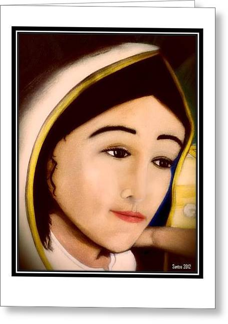 Nuestra Senora De Guadalupe Greeting Cards - Madonna Greeting Card by Juan Pablo Santos