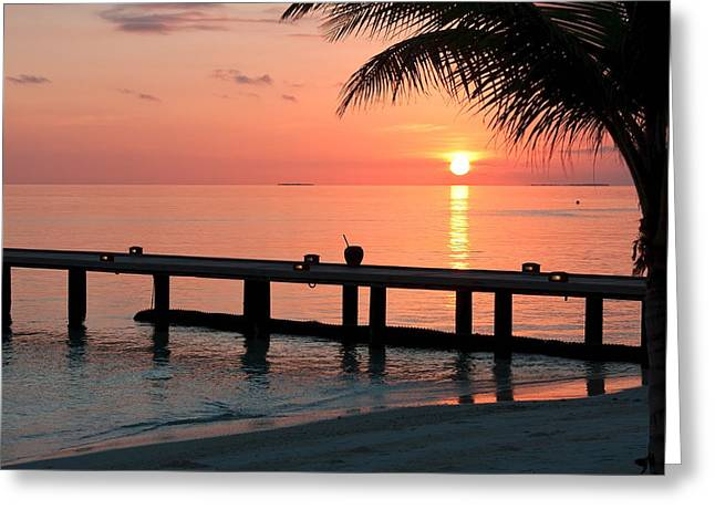 Maldives Morning  Greeting Card by Shirley Mitchell