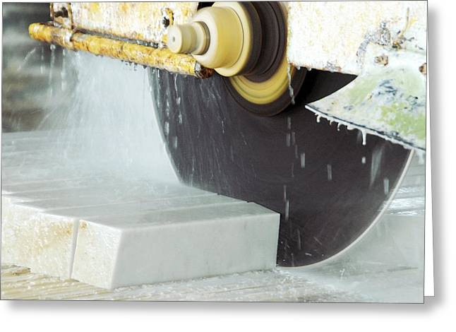 Marble Quarrying Greeting Card