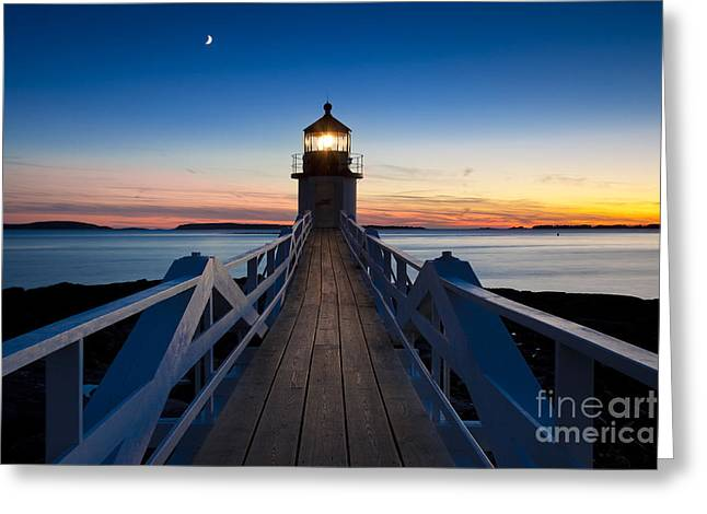 Marshall Point Light Greeting Card by Brian Jannsen