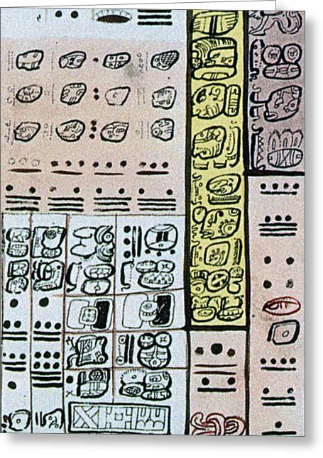 Mayan Number System, Codex Dresdensis Greeting Card