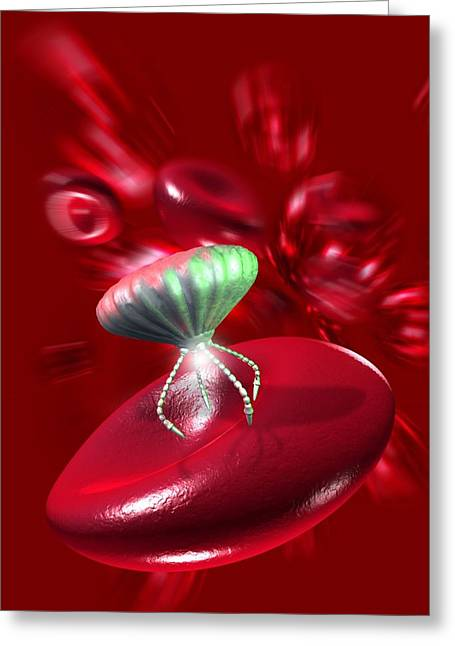 Medical Nanorobot, Artwork Greeting Card by Victor Habbick Visions