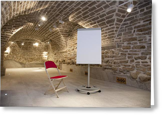 Meeting Rooms Vaulted Ceilings Greeting Card by Jaak Nilson