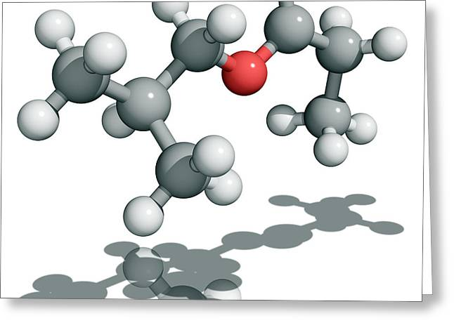 2-methylpropyl Propanoate Molecule Greeting Card