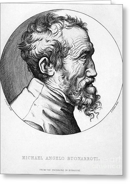 Michelangelo (1475-1564) Greeting Card by Granger
