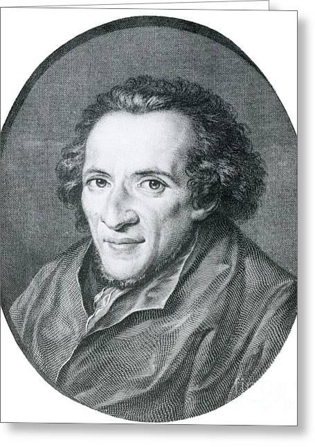 Moses Mendelssohn, German Philosopher Greeting Card by Photo Researchers