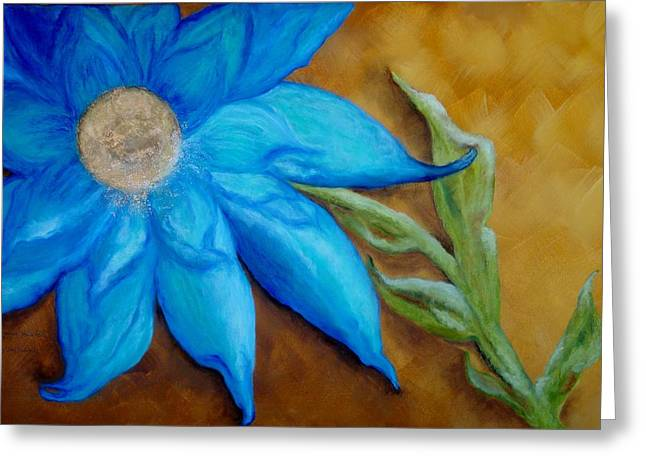 Greeting Card featuring the painting My Only Sunshine by Annamarie Sidella-Felts