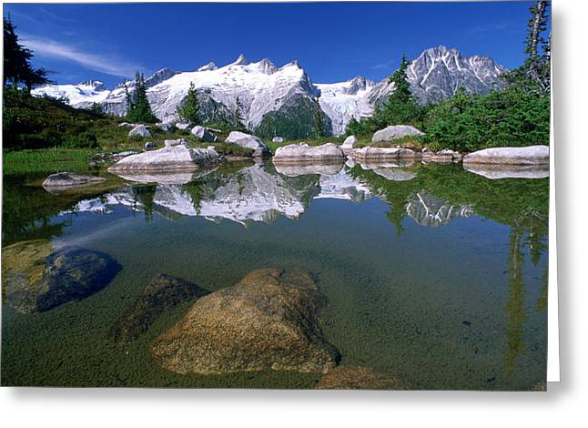 Nabob Pass With Deception Point And Mt Greeting Card