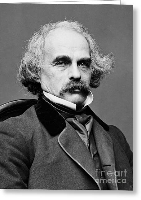 Nathaniel Hawthorne, American Author Greeting Card by Photo Researchers