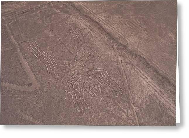 Nazca Lines Greeting Card by David Nunuk