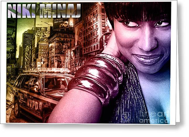 Niki Minaj Greeting Card