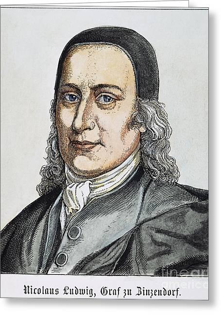 Nikolaus Von Zinzendorf Greeting Card by Granger
