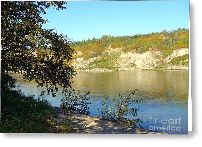 Greeting Card featuring the photograph North Saskatchewan River by Jim Sauchyn