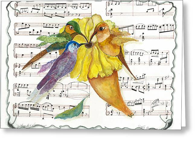Greeting Card featuring the mixed media 2 Of 2 - Natures Symphony-in Three-part Harmony by Joy Braverman