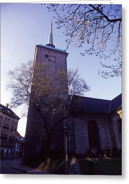 Old Church In Norway Greeting Card by Thomas D McManus