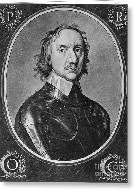 Oliver Cromwell, English Political Greeting Card by Photo Researchers