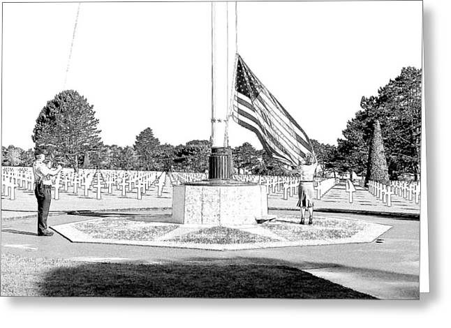 Omaha Beach Wwii American Cemetery Greeting Card