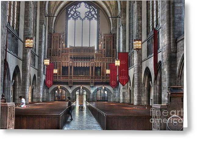 Organ Loft Greeting Card by David Bearden