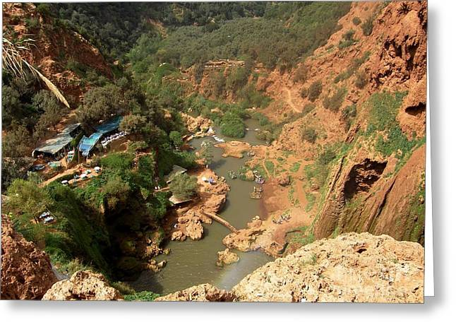 Ouzoud Falls Morocco Greeting Card by Sophie Vigneault