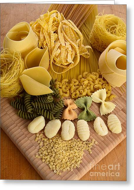 Pasta Greeting Card by Photo Researchers, Inc.