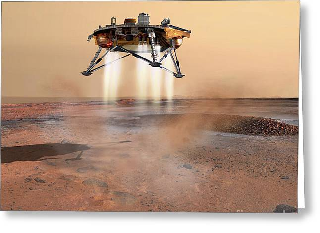 Phoenix Mars Lander Greeting Card by Stocktrek Images