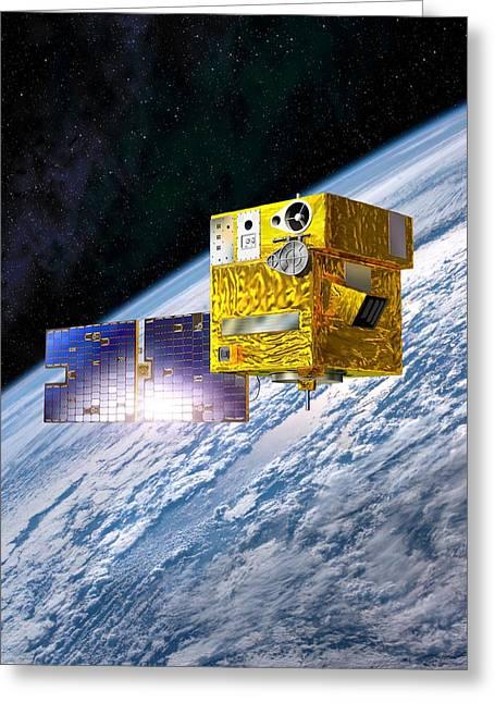 Picard Satellite, Artwork Greeting Card by David Ducros