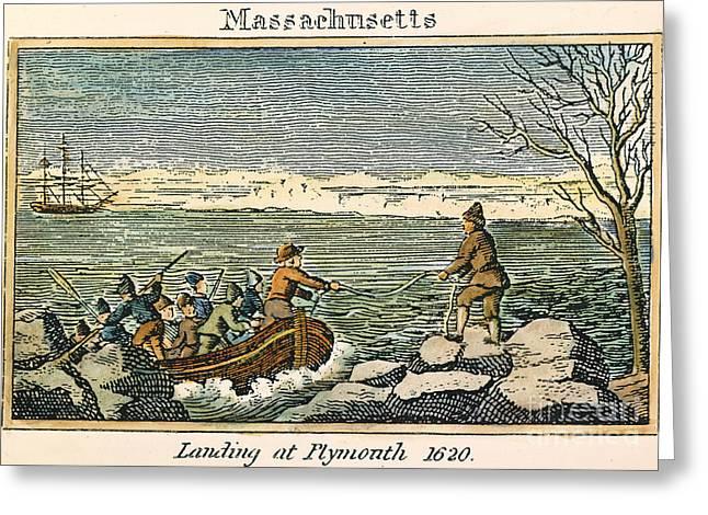 Plymouth Rock: Landing Greeting Card by Granger