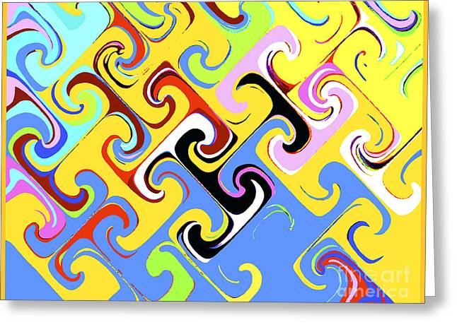 Greeting Card featuring the digital art Power Of T by Bill Thomson