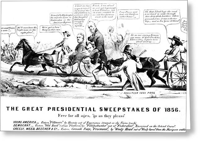 Presidential Campaign, 1856 Greeting Card by Granger