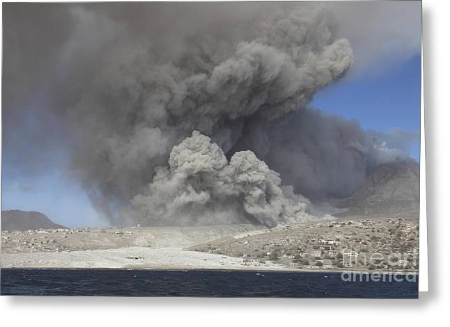 Pyroclastic Flow In Abandoned City Greeting Card by Richard Roscoe