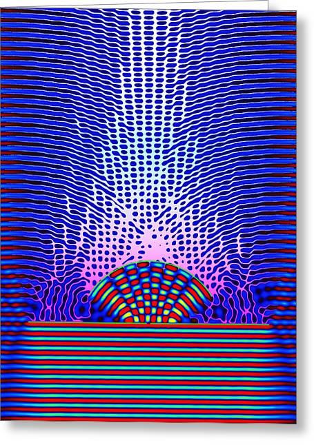 Quantum Resonance Greeting Card by Eric Heller