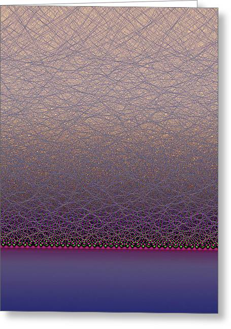 Quantum Waves Greeting Card by Eric Heller