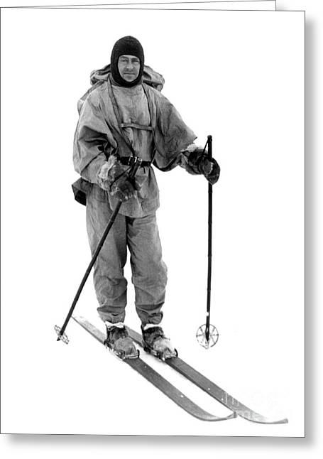 Robert Scott, English Explorer Greeting Card by Photo Researchers
