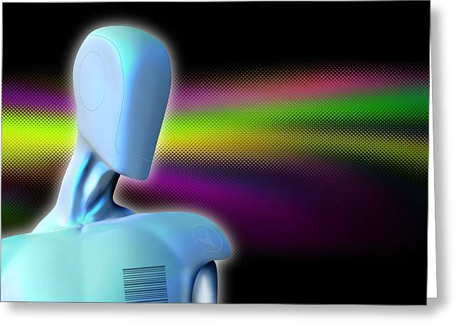Robot, Artwork Greeting Card by Victor Habbick Visions