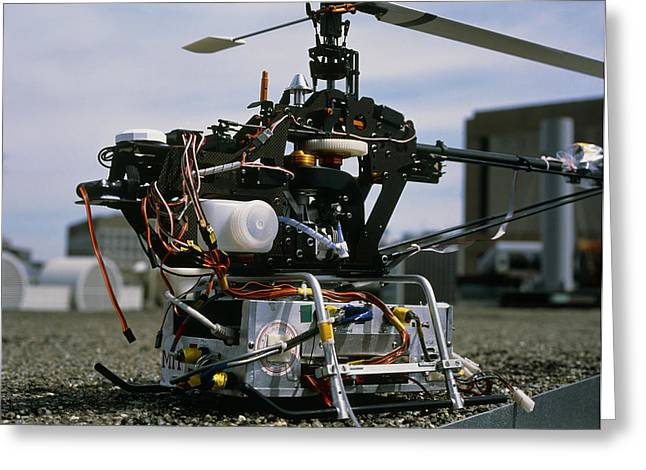 Robotic Helicopter Greeting Card