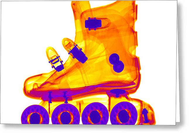 Rollerblade Boot Greeting Card by Ted Kinsman