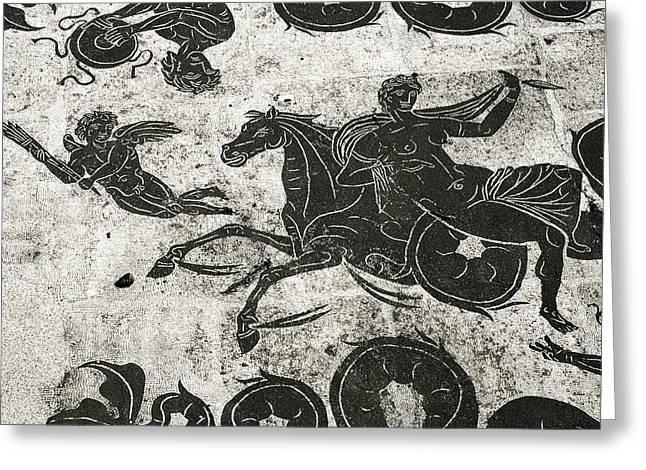 Roman Mosaic, Ostia Antica Greeting Card by Sheila Terry