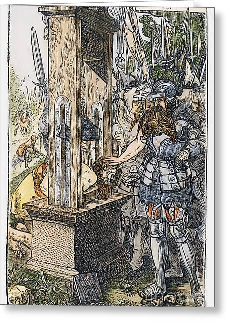 Rome: Guillotine, C340 B.c Greeting Card by Granger