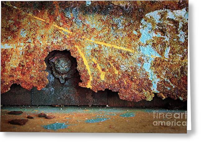 Rust Background Greeting Card by Carlos Caetano