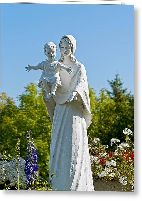 Saint Mary With Jesus Greeting Card