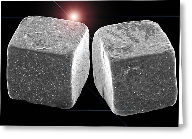 2 Salt Crystals Greeting Card