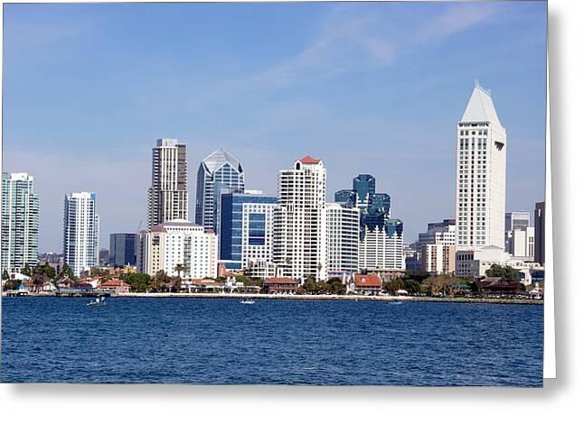 San Diego Skyline Greeting Card by Jeff Lowe