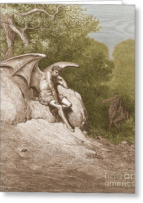 Satan, By Dore Greeting Card