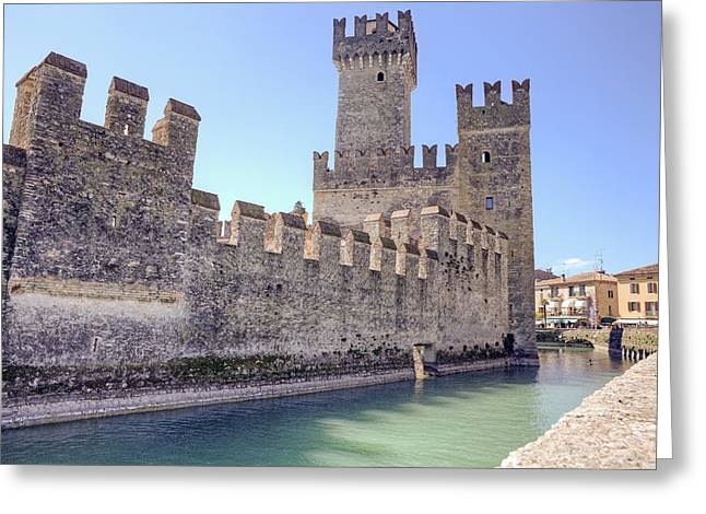 Scaliger Castle Wall Of Sirmione In Lake Garda Greeting Card by Joana Kruse