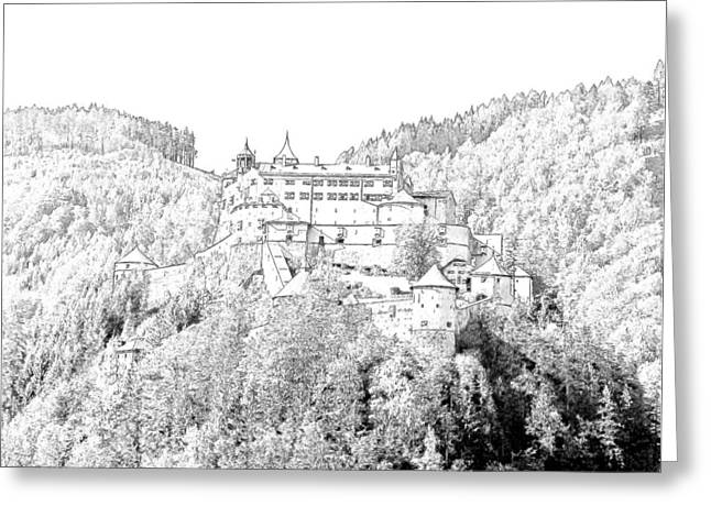 Schloss Hohenwerfen Werfen Austria Greeting Card by Joseph Hendrix